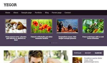 Yegor WordPress Template