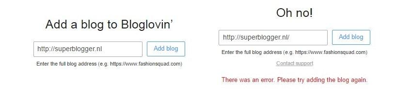 Blog aanmelden Bloglovin