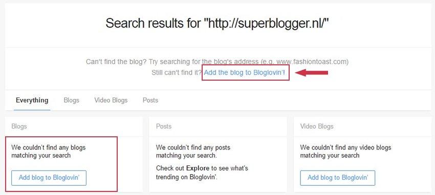 blog niet gevonden Bloglovin