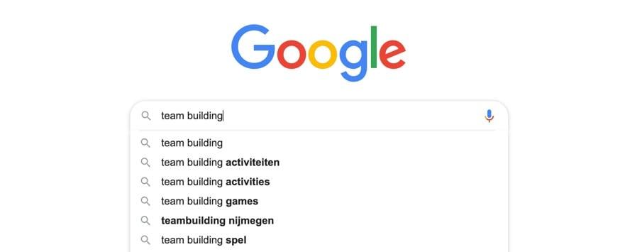 Google Autocomplete voorbeeld