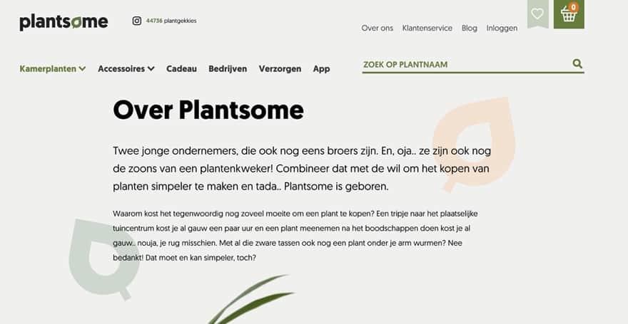 Voorbeeld Plantsome