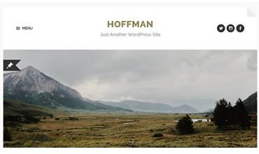 Hoffman WordPress Template
