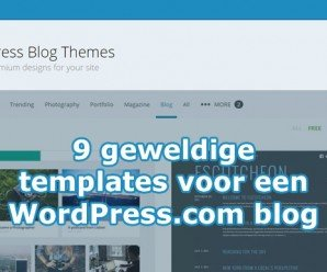 Templates voor WordPress.com blogs