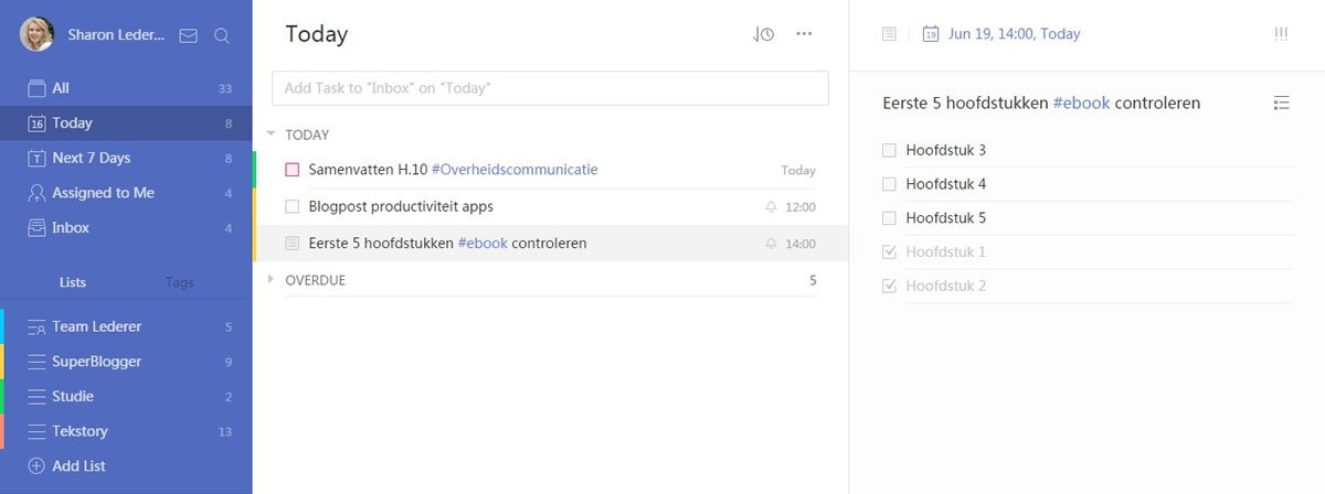 TickTick - To do lijst app