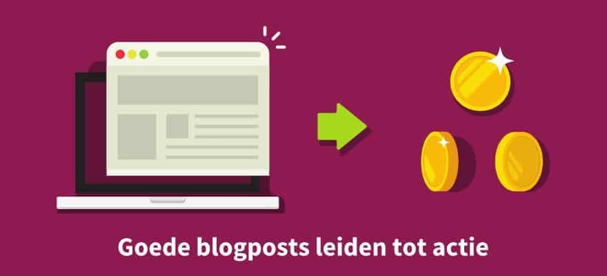 Goede blogposts leiden tot actie