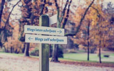 Blogs laten schrijven of toch maar zelf schrijven?